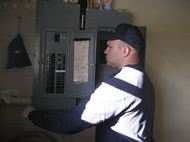 Inspecting electrical panel